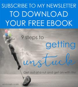 9 Steps to Getting Unstuck Ebook widget UPDATED APRIL 201
